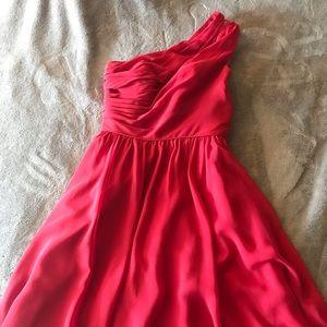 Alfred Angelo One Shoulder Bridesmaid Dress Short